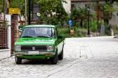Old green pickup car — Photo