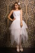 Braut mit breitschwert — Stockfoto