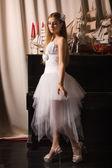 Bride in a boudoir — 图库照片