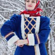Russian beauty woman in traditional clothes — Stockfoto #64471427