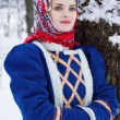 Russian beauty woman in traditional clothes — Stock fotografie #64471471
