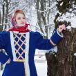 Russian beauty woman in traditional clothes — ストック写真 #64471479