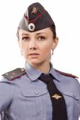 Russian woman police officer — Stock Photo