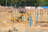 Graafmachine op de bouwplaats — Stockfoto