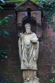 Statue of the saint in Mettlach, Germany — Stock Photo