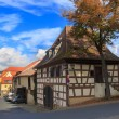 Old timbered house on Bamberg street — Fotografia Stock  #59392451