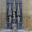Statues of saints on the wall of Saint Jacob Church, lutheran in — Stock Photo #61393303