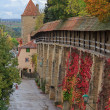 Rothenburg on Tauber castle wall and tower — Stock Photo #61393305