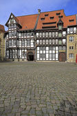 Old timbered houses in Braunschweig — Stock Photo