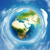 Alivio real del planeta tierra — Foto de Stock