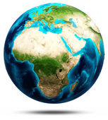 Earth real relief, modified maps — Stock Photo
