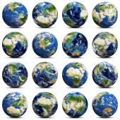 Earth icons set — Stock Photo