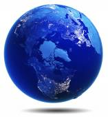 Planet Earth white isolated — Stock Photo
