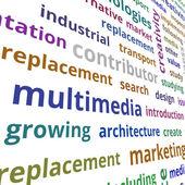 Multimediální koncept — Stock fotografie