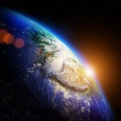 Mapa de noche del planeta — Foto de Stock