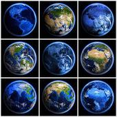 Earth globe set — Stock Photo