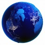 Earth globe white isolated — Stock Photo #70932009