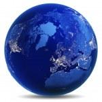 Earth globe white isolated — Stock Photo #70932023
