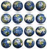 Planet Earth icons set — Stock Photo