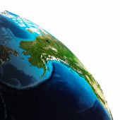 Earth map white isolated — Stock Photo