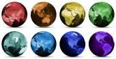 Planet globe icons — Stock Photo