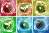 Colored Earth icons set — Stock Photo