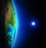 Planet from space — Stock Photo
