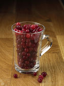 Cranberry cup — Stock Photo