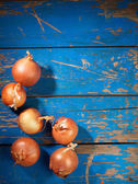 Onion on table — Stock Photo