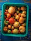 Red organic tomatoes — Stock Photo