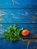 Parsley and tomato — Stock Photo
