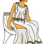 Ancient Greek woman — Stock Vector #54299369