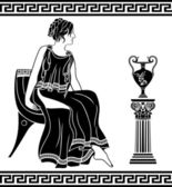 Ancient Greek woman — Stock Vector