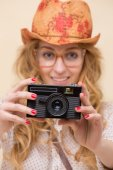Young personal photographer — Stock Photo