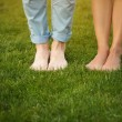 Legs of young couple — Stock Photo #76587493