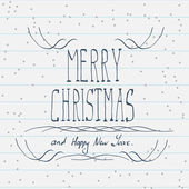 Hand drawn Merry Christmas sketch — Stock Vector