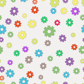 Seamless background with gears. — Stock Vector