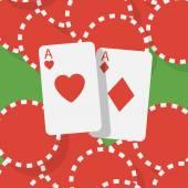 Asse und glücksspiel-chips — Stockvektor