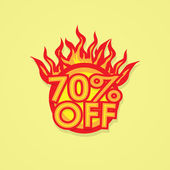 Fiery discount. — Stock Vector