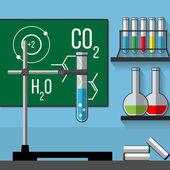 Chemistry classroom. — Stock Vector
