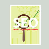 Search engine flat illustration with magnifying glass. Eps10 — Wektor stockowy