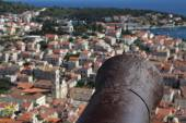 View of the city of Hvar from a fortress. Island Hvar. Croatia. — Stock Photo