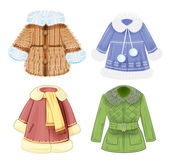 Set of winter clothes for children — Stockvector