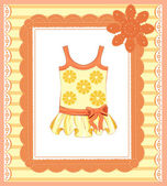 Background with  dress for baby girl — Stock Vector