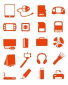 Web media icons set — Stock Vector