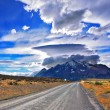 Постер, плакат: Incredible clouds over mountains