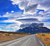 Incredible clouds over mountains — Stok fotoğraf