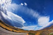 The clouds formed by glaciers  — Stock Photo