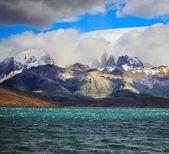 The Laguna Azul emerald water — Stock Photo