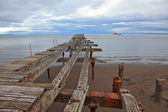 Old pier in Strait of Magellan. — Foto Stock